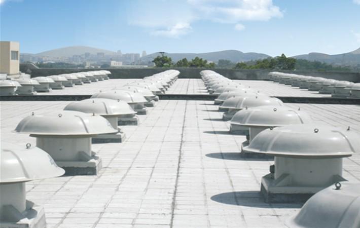 某发电厂在使用万通玻璃钢屋顶风机